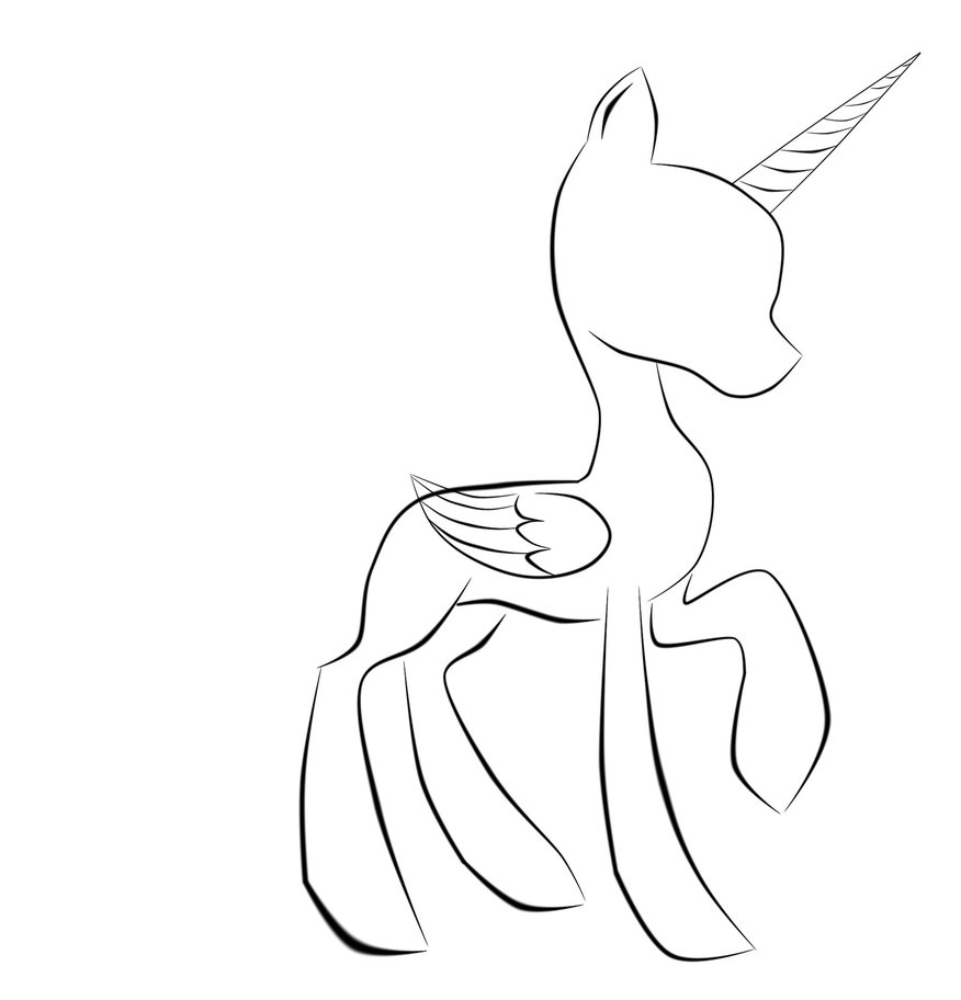 876x912 Mlp Base Alicorn Coloring Pages Becca Mlp