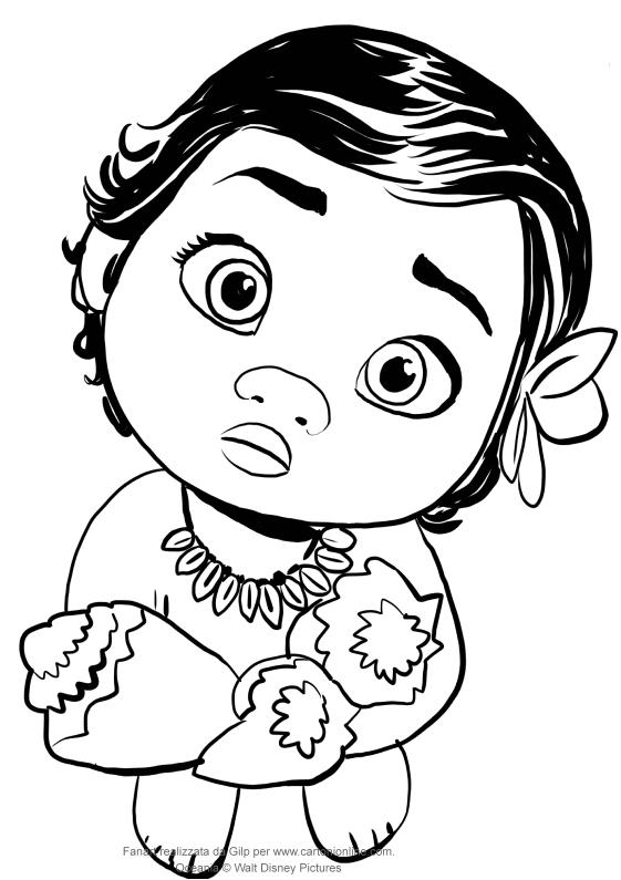 561x795 Baby Moana Coloring Pages Ba Moana Drawing At Getdrawings Free