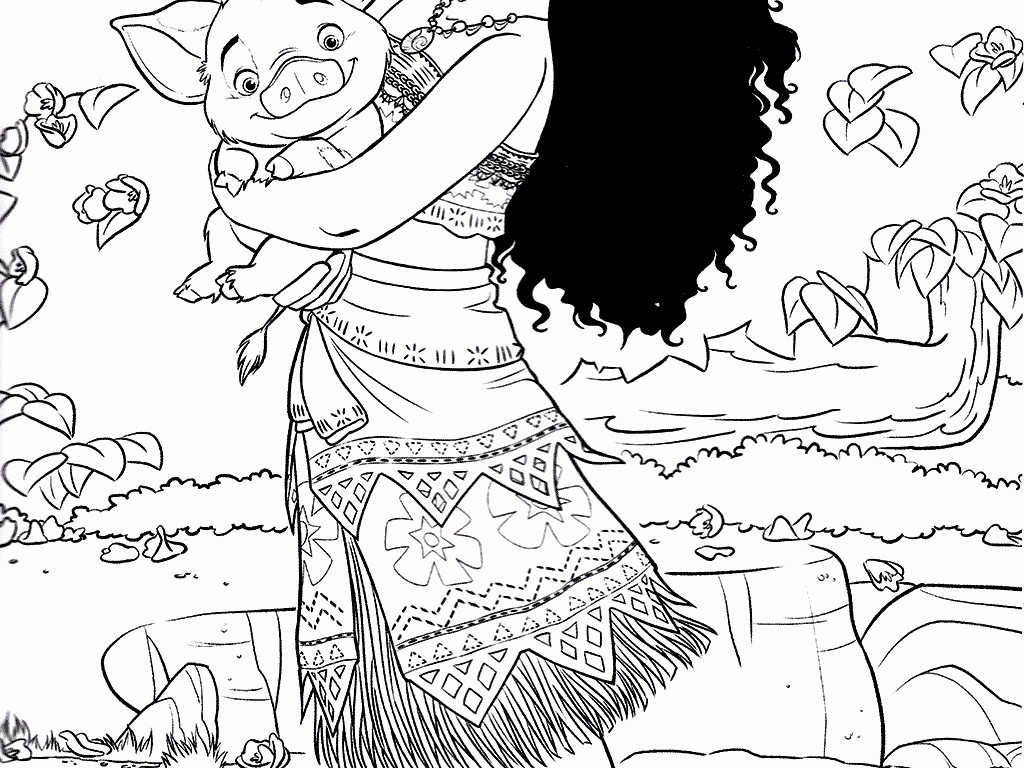 Coloring Pages Of Moana At Getdrawings Com Free For Personal Use
