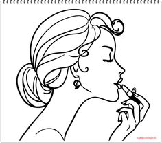 236x208 Printable Coloring Pages Coloring Accessories Makeup For Girl