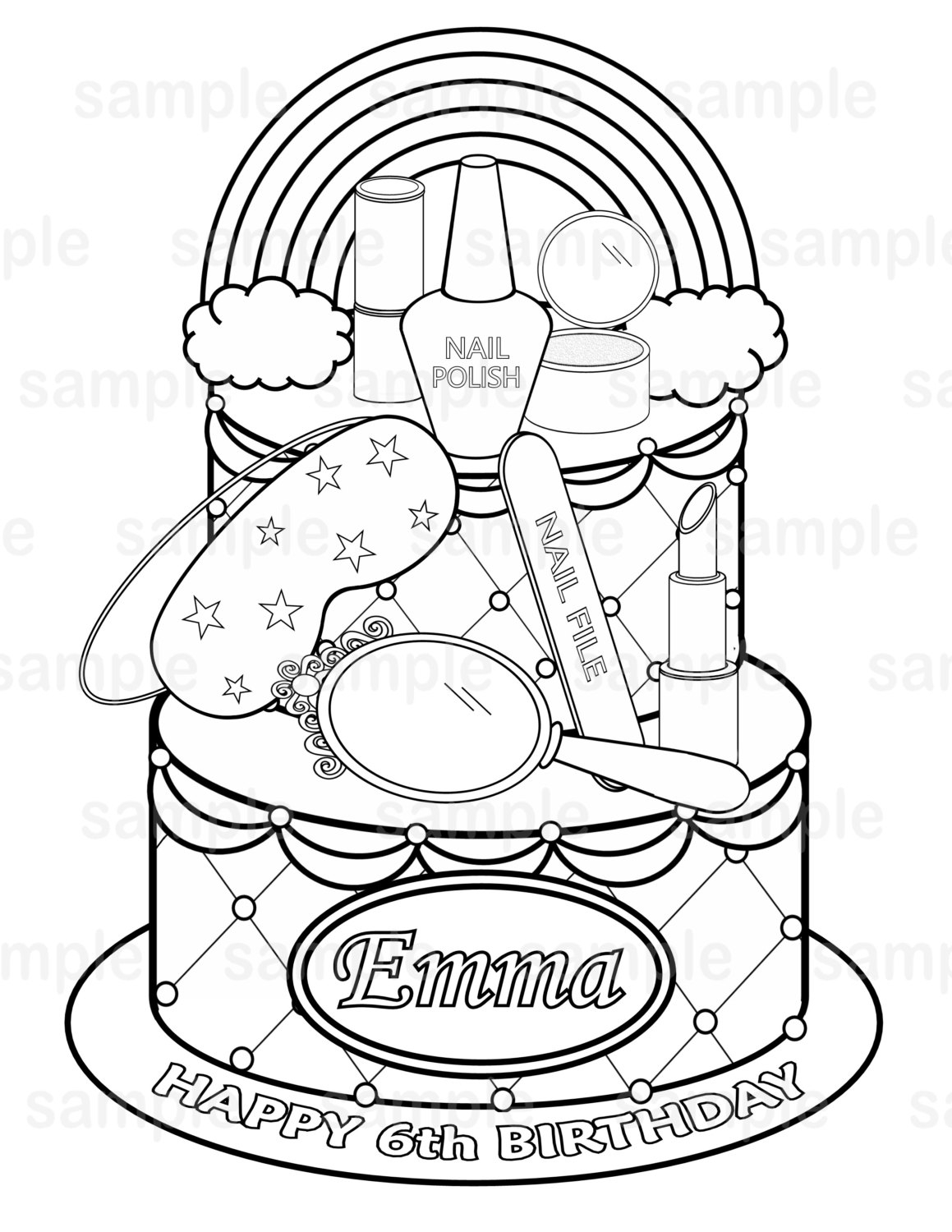 1159x1500 Shopkins Nailpolish Picture Coloring Page Printable