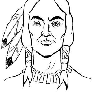 300x300 Chief Native American Apache Tribe Coloring Page Chief Native