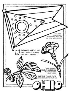 236x305 Ohio State Flag Ohio, Worksheets And Flags