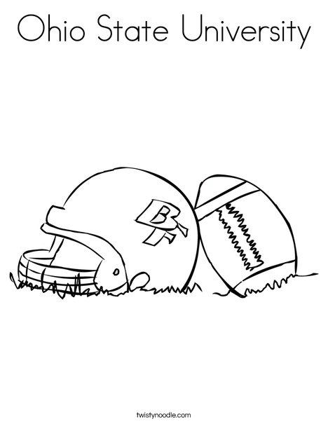 468x605 Ohio State University Coloring Page