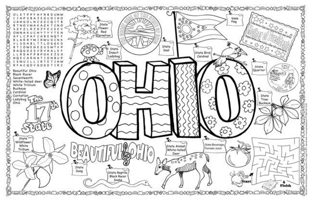 1024x662 Ohio State Coloring Pages Ohio State Coloring Pages Regarding