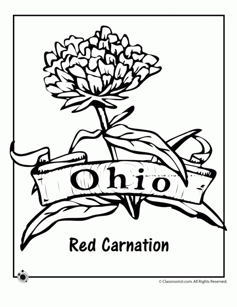 791x1024 Fresh State Flower Coloring Pages Collection Printable Coloring