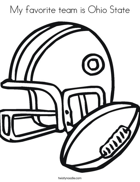 468x605 My Favorite Team Is Ohio State Coloring Page