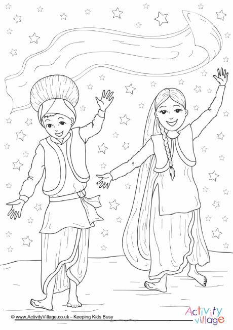 460x652 Bhangra Dance Colouring Page Coloring Pages