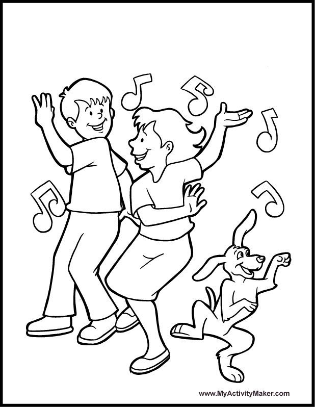 618x798 Dance And Dancing Coloring Page