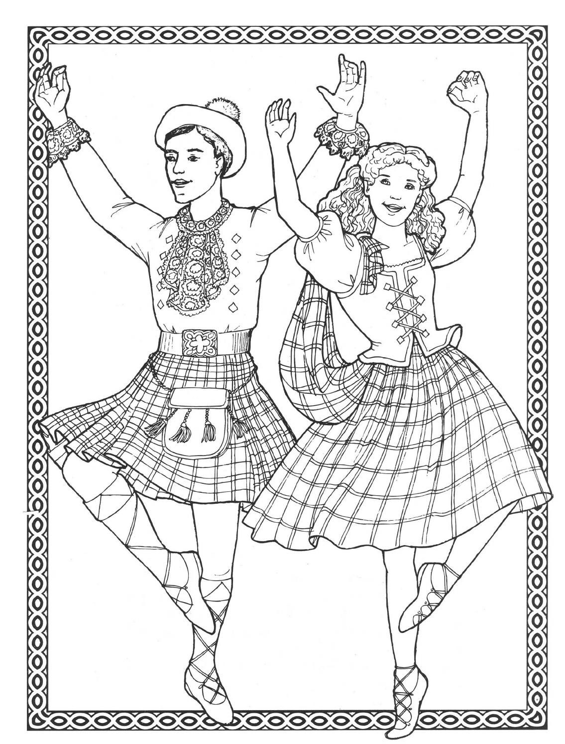 1135x1493 Dancers Coloring Book Costumes For Coloring Book Costumes
