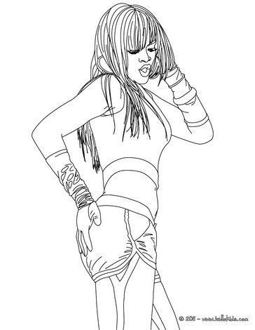 364x470 Dancing Rihanna Coloring Page More Singer Coloring Sheets