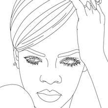 220x220 Dancing Rihanna Coloring Pages