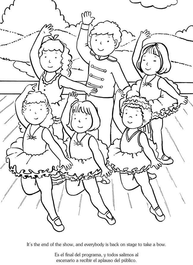 650x893 I Love Balletme Encanta El Ballet Bilingual Coloring Book Dover