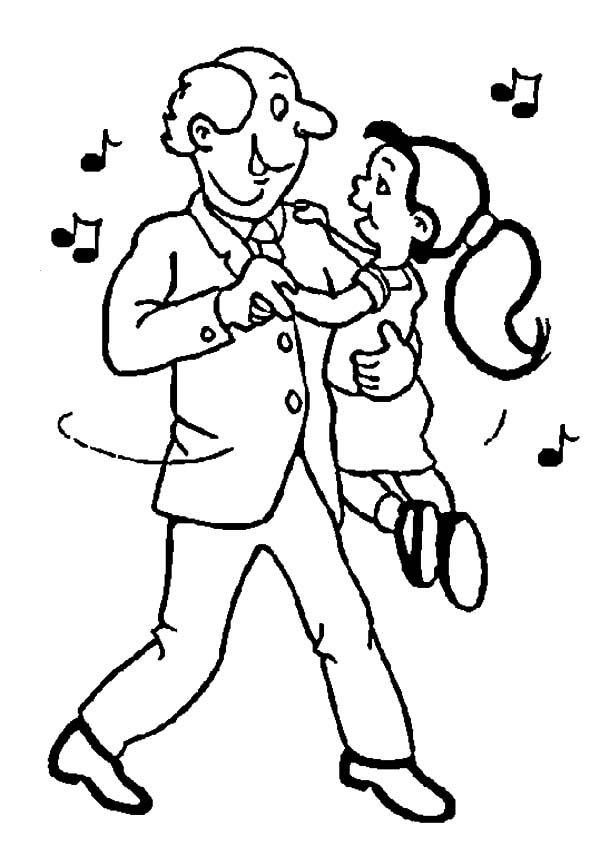 600x856 Me And My Grandfather Dance Coloring Pages Color Luna