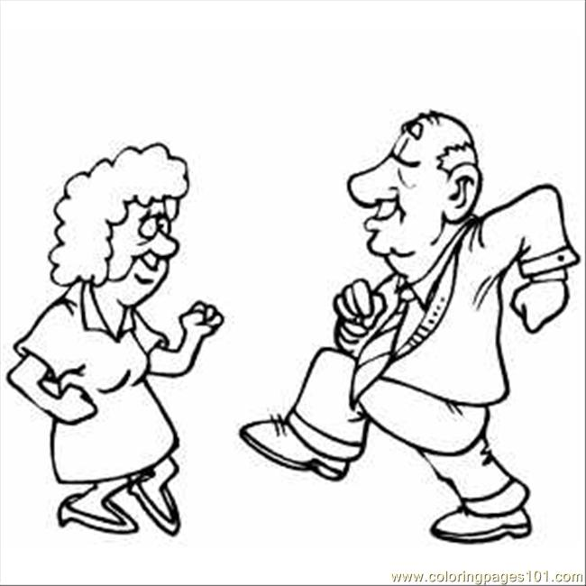 650x650 Old Pair Dancing Coloring Page
