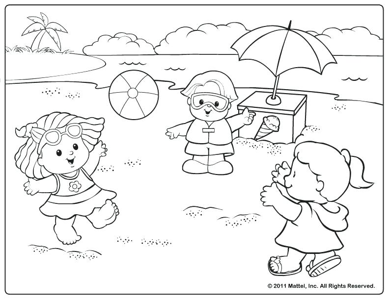 792x612 Little People Coloring Pages Beach Scene Coloring Pages Kids