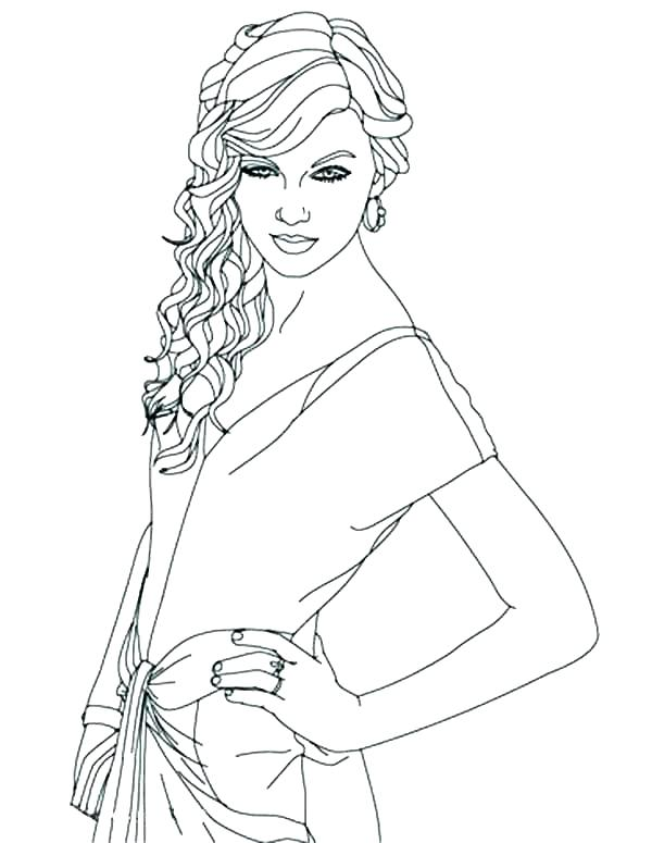 600x775 People Coloring People Coloring Pages People Coloring Pages Famous