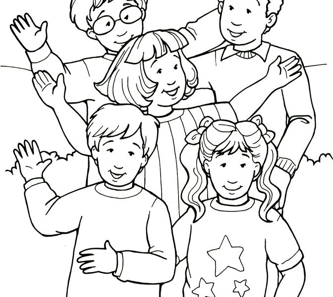 672x600 Pictures Of People To Color Coloring Page People Coloring Pages