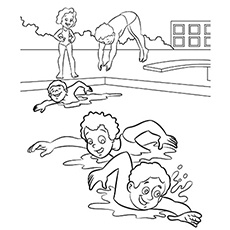 230x230 Top Free Printable Swimming Coloring Pages Online