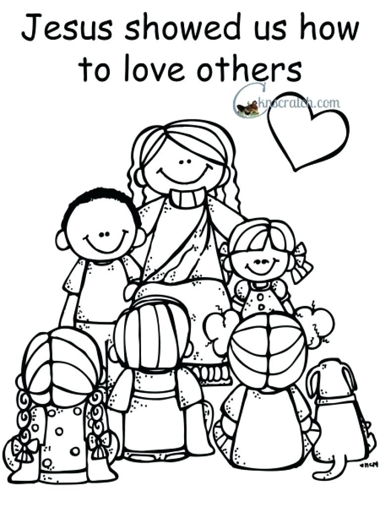 768x1024 Love One Another Coloring Page Paginone Biz