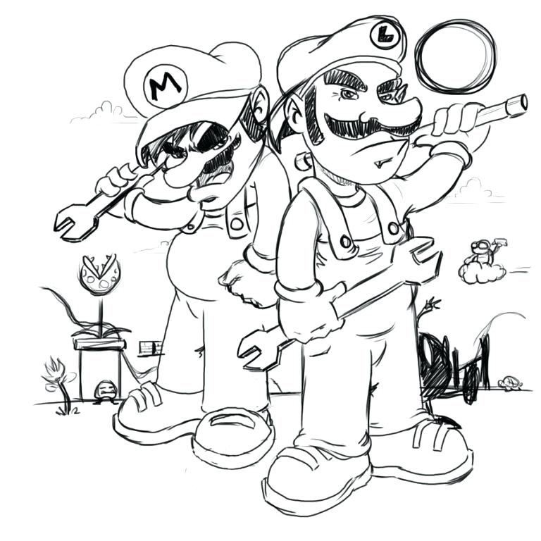 768x768 Mario Luigi Coloring Pages People Love And Coloring Pages Super