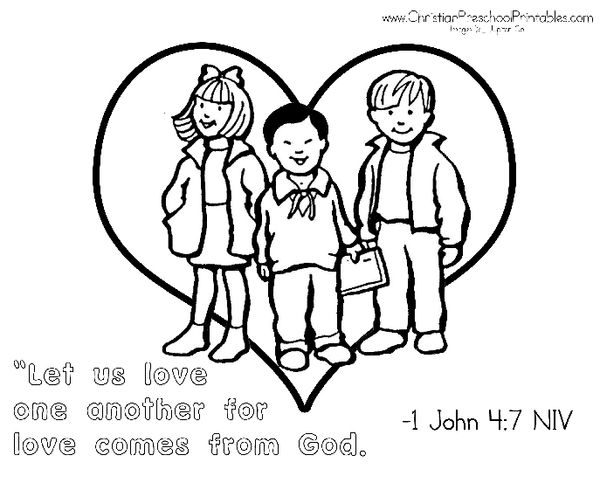 600x483 Pretentious Love One Another Coloring Pages God Loves All His