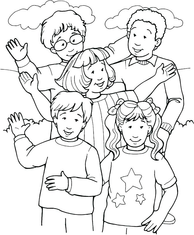 672x813 Coloring Pages Of People