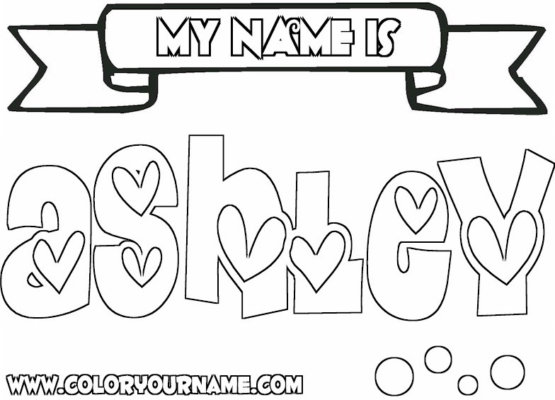 784x565 Name Ashley Coloring Pages