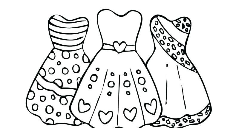 Coloring Pages Of Princess Dresses at GetDrawings.com