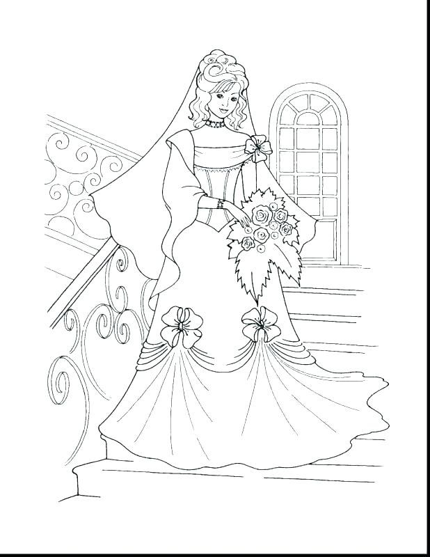 Coloring Pages Of Princess Dresses At Getdrawings Com Free For