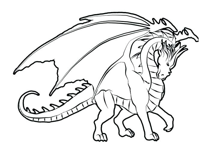 Coloring Pages Of Realistic Dragons