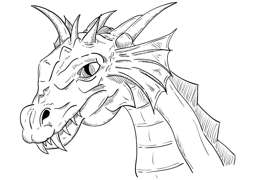 coloring pages of realistic dragons at getdrawings  free