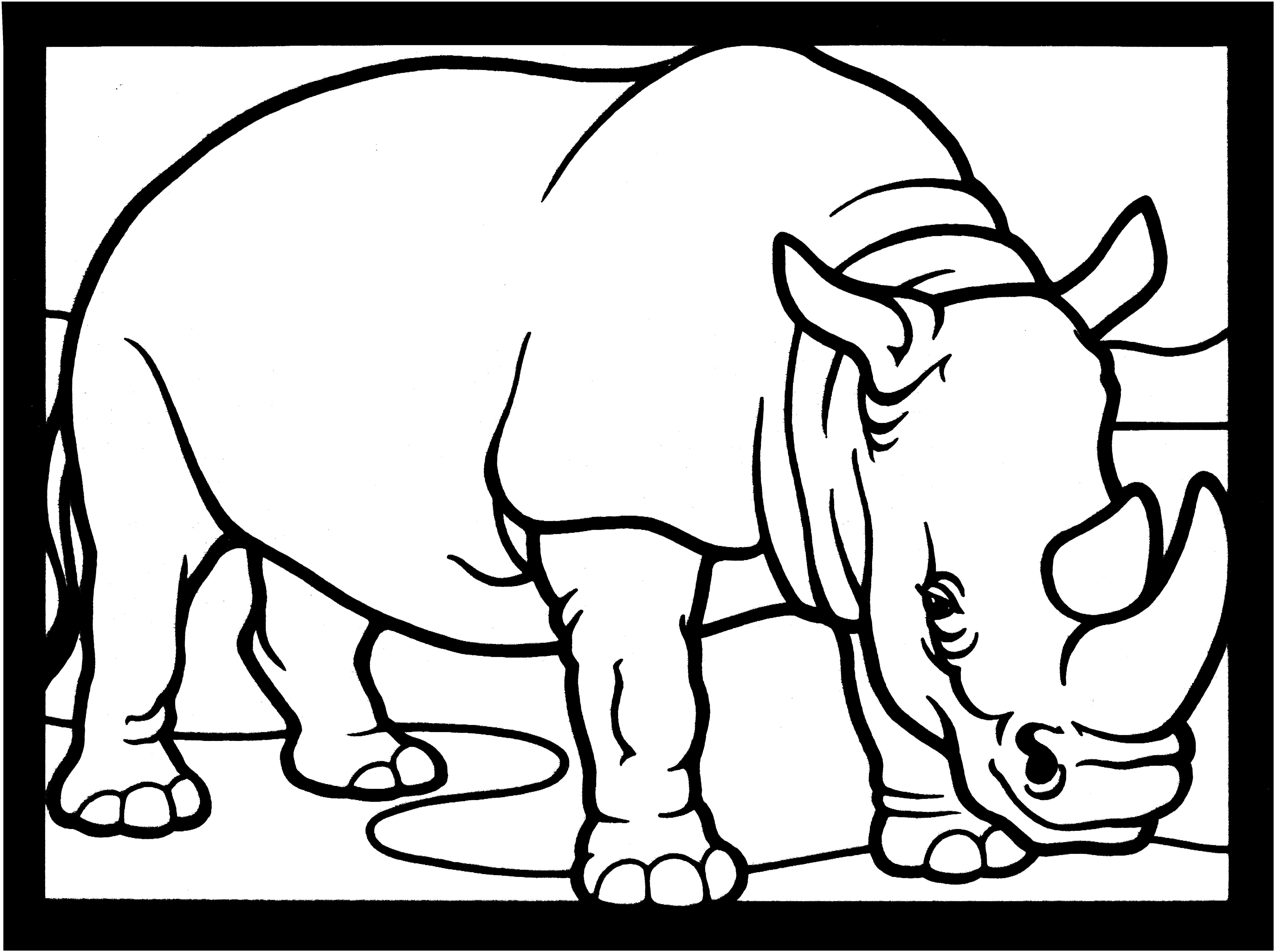 Coloring Pages Of Rhinos