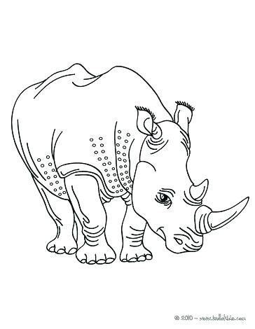 364x470 Rhino Coloring Pages Rhino Coloring Page Two Horned Rhinoceros