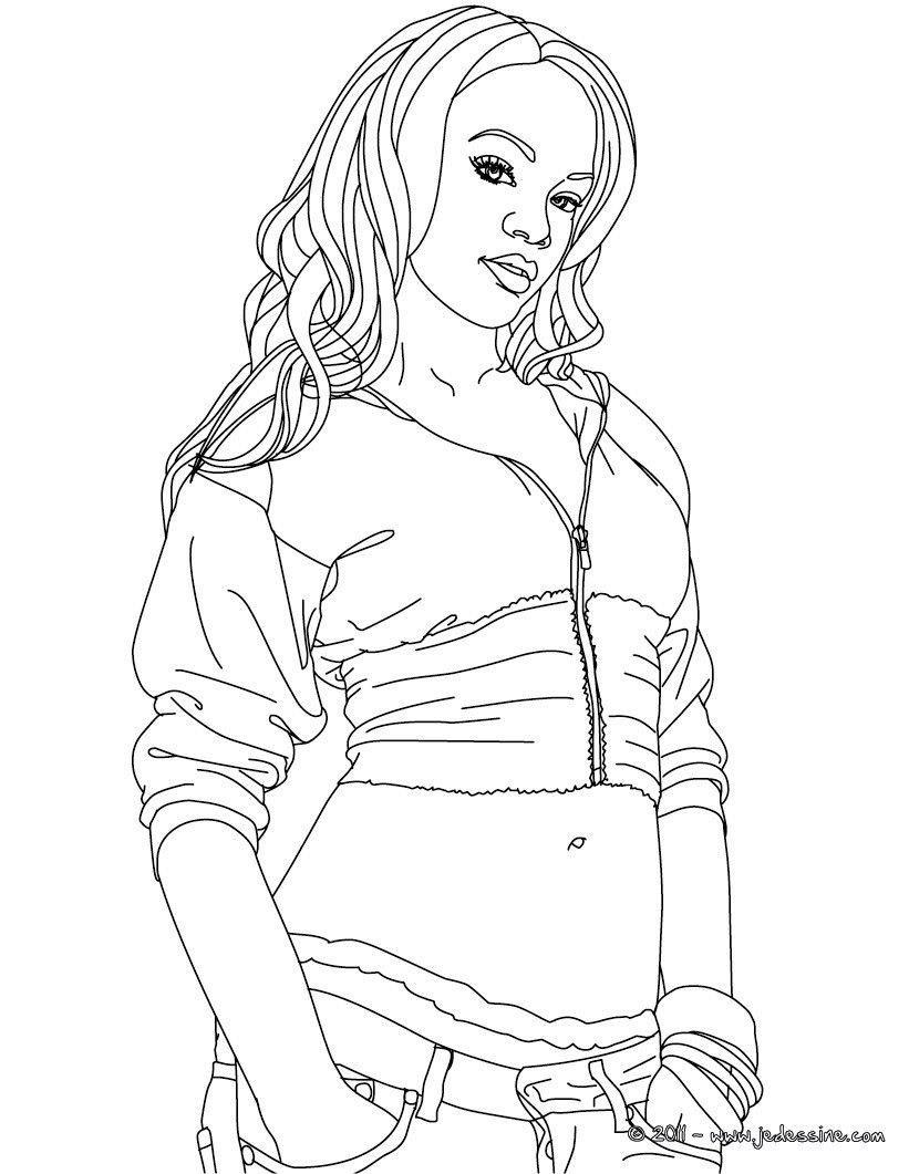 Coloring Pages Of Rihanna
