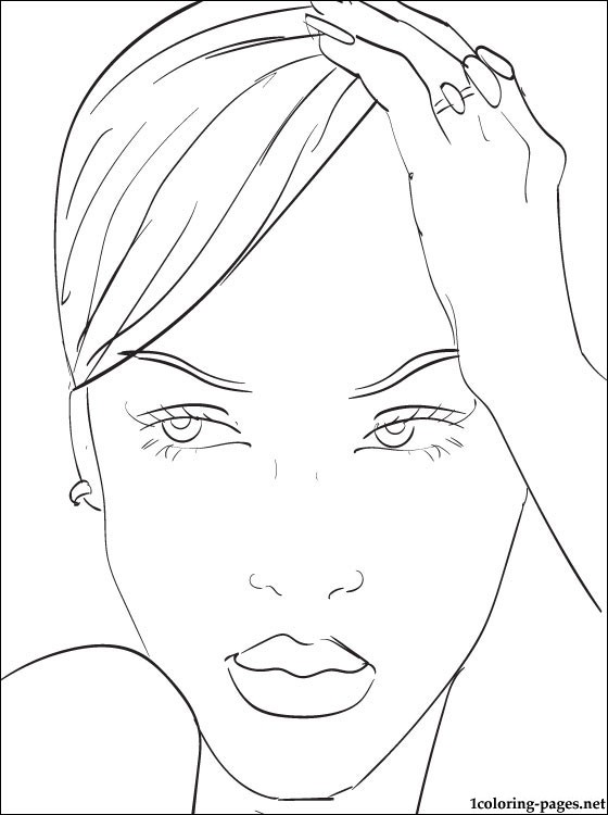 Coloring Pages Of Rihanna At Getdrawings Free Download