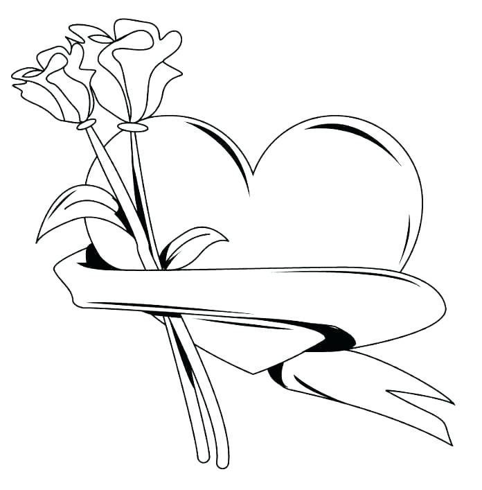 696x707 Coloring Pages Of Roses Hearts And For Adults