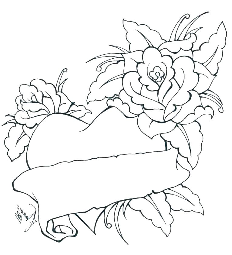 765x839 Coloring Pages Of Roses Rose Coloring Page Rose Coloring Page