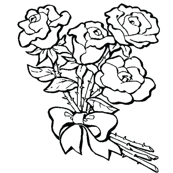 600x600 Coloring Pages Rose Page Free Of Roses And Butterflies
