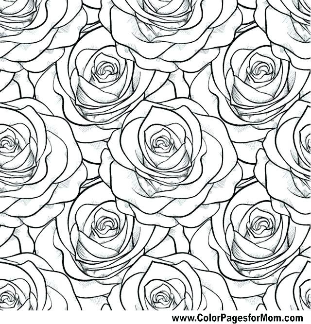 640x667 Flowering Coloring Pages Coloring Book Pages Flowers Flower