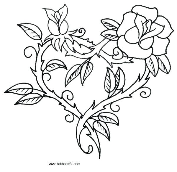 600x581 Or Coloring Pages For Adults Roses Coloring Pages Of Roses