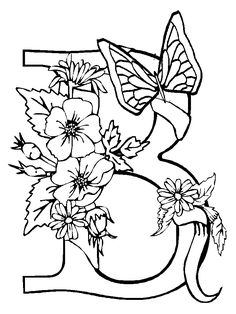 236x314 Printable Geometric Butterflies Coloring Pages Thumbnail Image