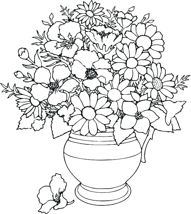 618x692 Coloring Pages Flowers And Butterflies