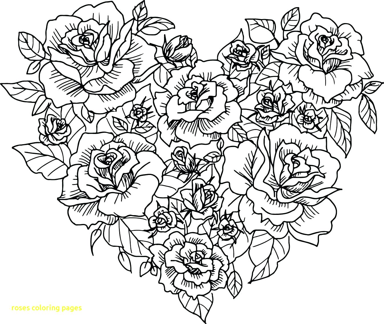 1346x1137 Coloring Pages Coloring Pages Of Roses Page Rose Mandala