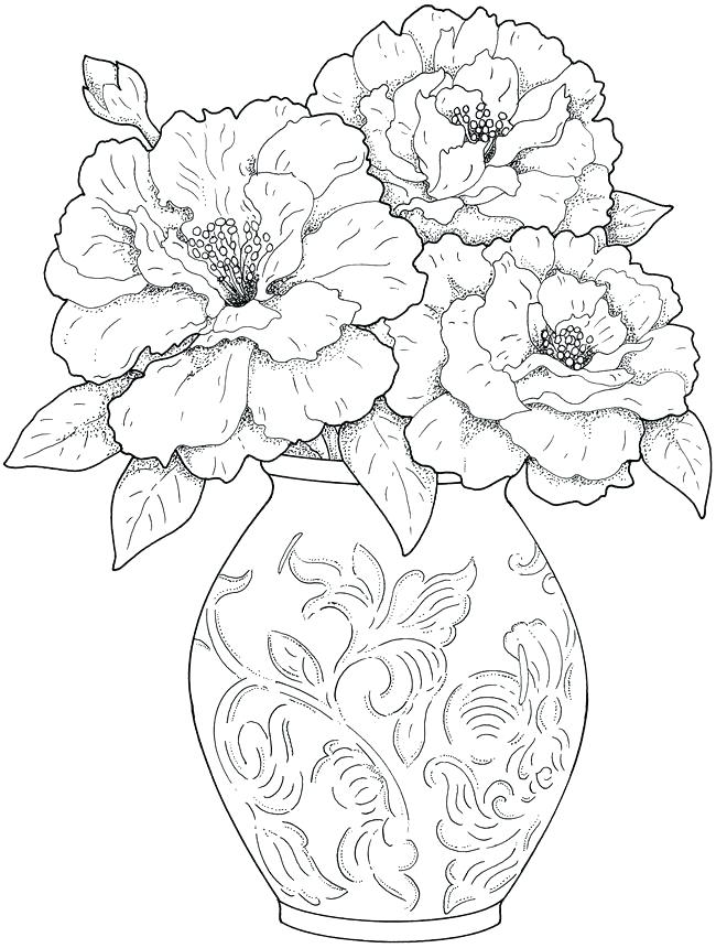 650x860 Coloring Book Pages Flowers Coloring Book Pages As Well As More