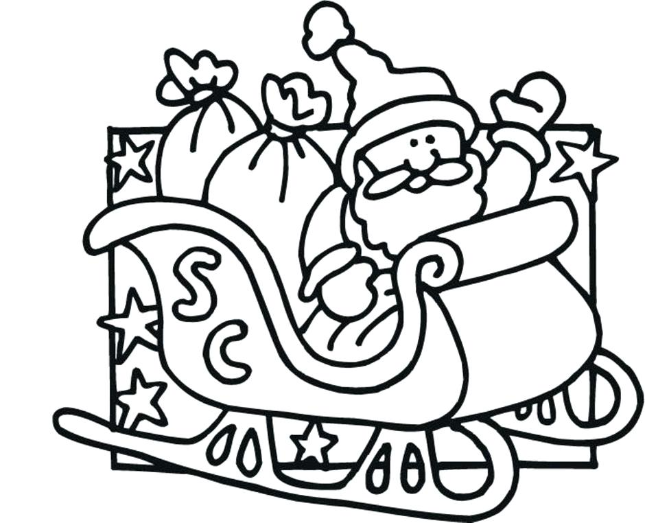 940x762 Coloring Pages Santa Claus Sleigh Sheets Murs
