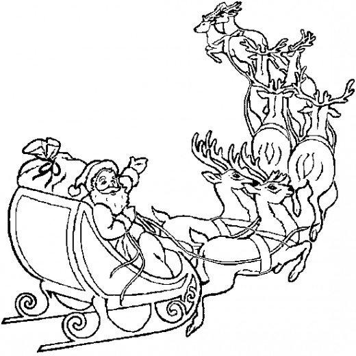520x520 Online Christmas Coloring Book Printables Santa, Christmas
