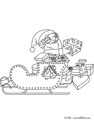 364x470 Santa Claus His Sleigh Coloring Pages
