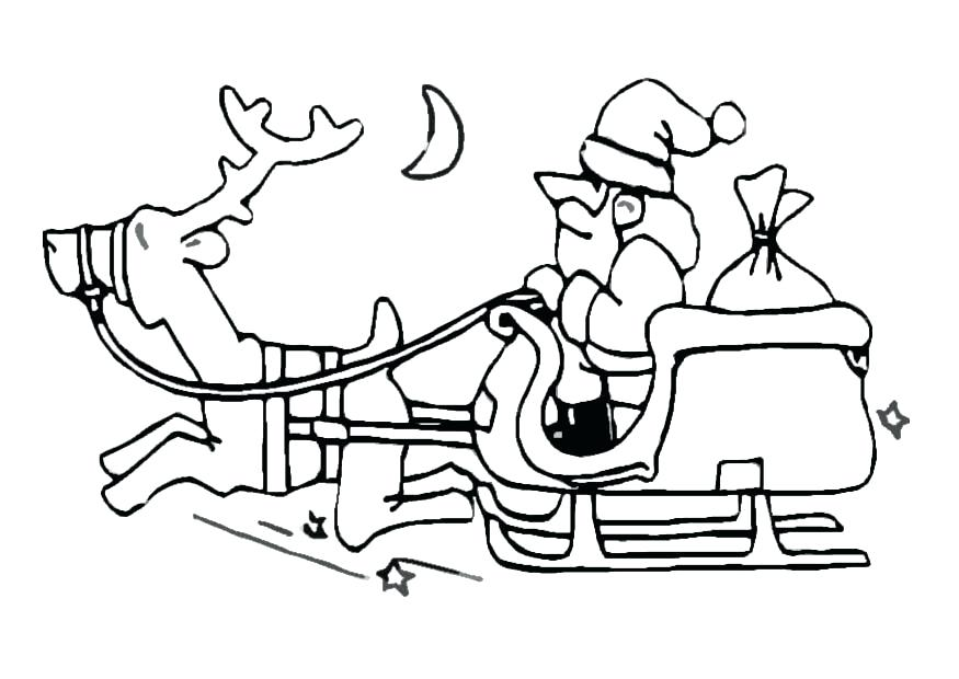 875x620 Coloring Page Santa Sleigh Coloring Page Printable Coloring Pages