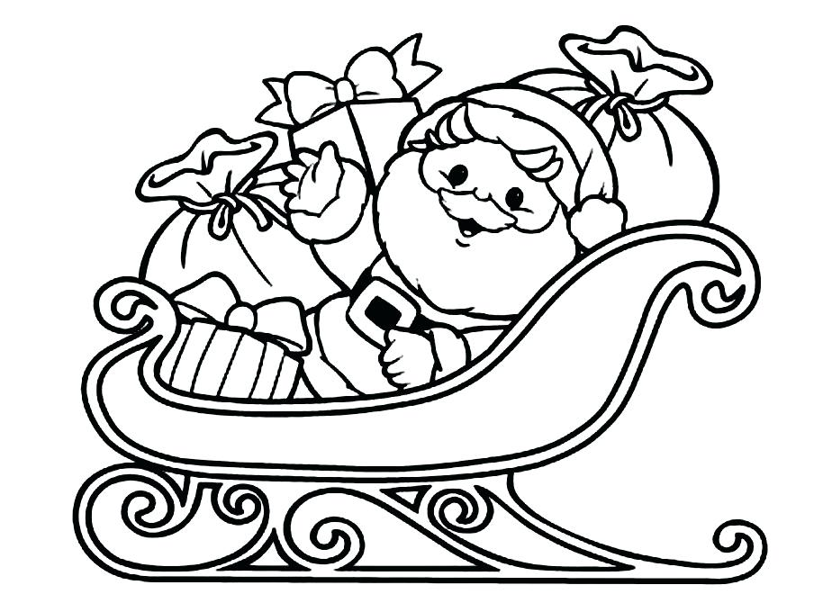 924x660 Coloring Pages Of Santa Sleigh Coloring Pages Santa Claus